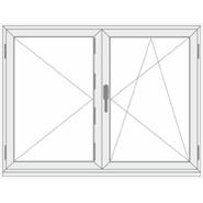 2 varstomų dalių be stulpelio plastikinis langas