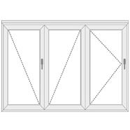 3 dalių sulankstomos plastikinės durys