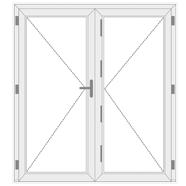 2 varstomų dalių plastikinės lauko durys