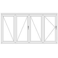 4 dalių sulankstomos plastikinės durys