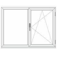 2 dalių viena varstoma plastikinis langas