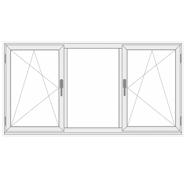 3 dalių dvi varstomos plastikinis langas