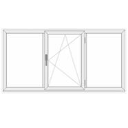 3 dalių viena varstoma plastikinis langas