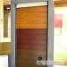 Sekcijiniai garažo vartai spalvos medžio imitacija