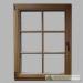 Mediniai langai natūrali spalva iš vidaus