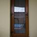 Plastikinės lauko durys su stiklu auksinis ąžuolas