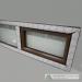 Plastikinis rudas langas dvi dalys viena varstoma