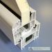 Ekonominis 70mm plastikinių langų baltas profilis